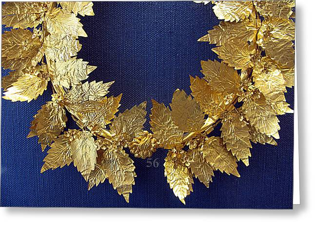 Wreath Oak-leaves Greeting Card by Andonis Katanos