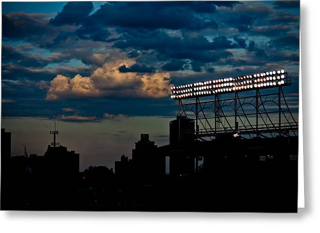 Wrigley Field Light Stand Greeting Card