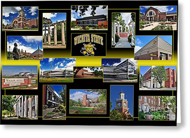 Wsu Collage Greeting Card