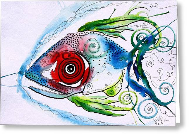 Wtfish 001 Greeting Card by J Vincent Scarpace