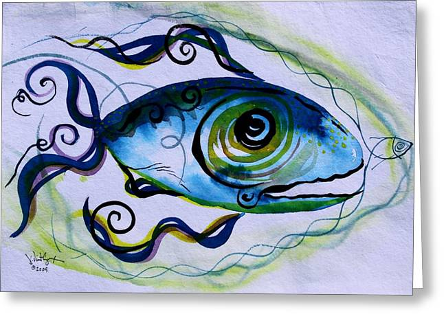 Wtfish 009 Greeting Card by J Vincent Scarpace