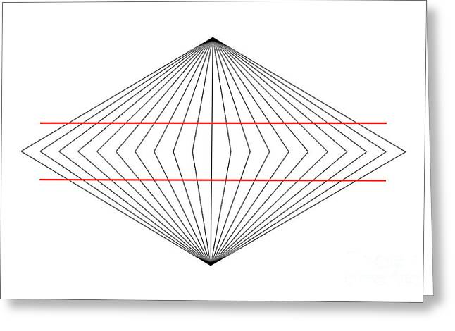 Wundt Illusion Greeting Card