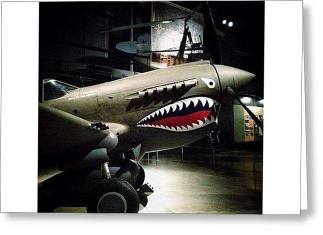 Ww2 Curtiss P-40e Warhawk Greeting Card by Natasha Marco