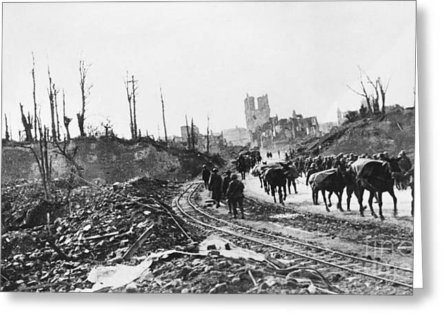 Wwi Pows, Ypres, Belgium Greeting Card by Omikron