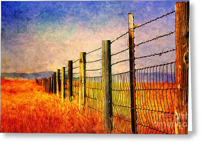 Wyoming Fences Greeting Card