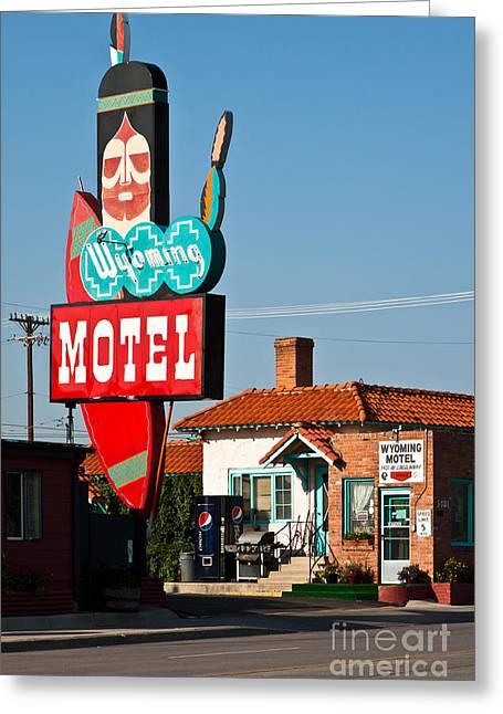 Wyoming Motel Greeting Card