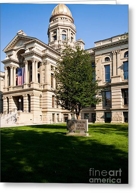 Wyoming State Capital Greeting Card