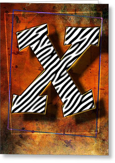 X Greeting Card