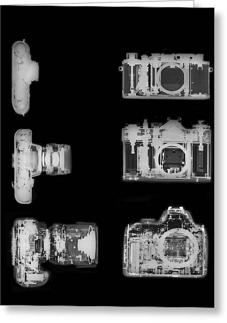 X-ray Of A Digital Camera Greeting Card by Photostock-israel