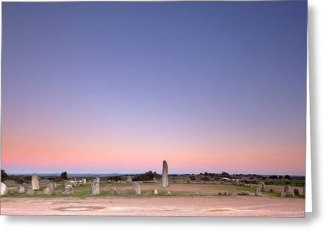Xarez Cromlech Uring The Sunset Greeting Card by Andre Goncalves
