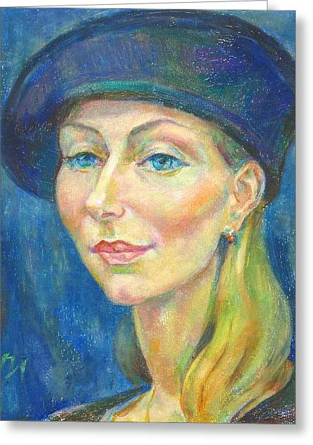 Xenia Istomin Greeting Card by Leonid Petrushin