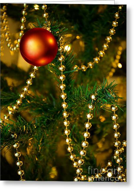 Xmas Ball Greeting Card by Carlos Caetano