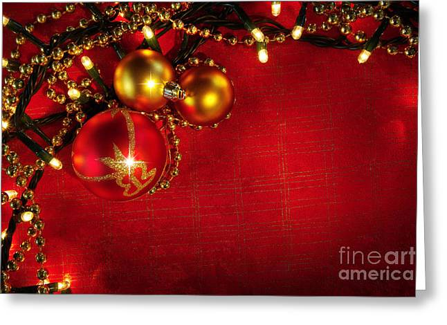 Xmas Frame Greeting Card by Carlos Caetano