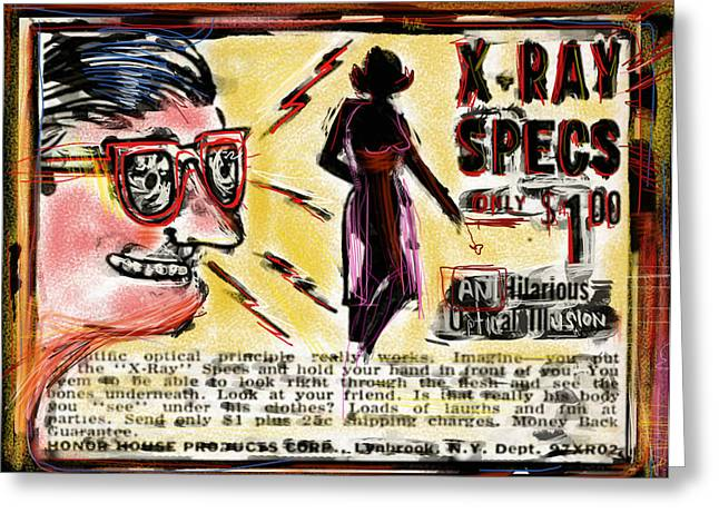 Xray Specs Greeting Card
