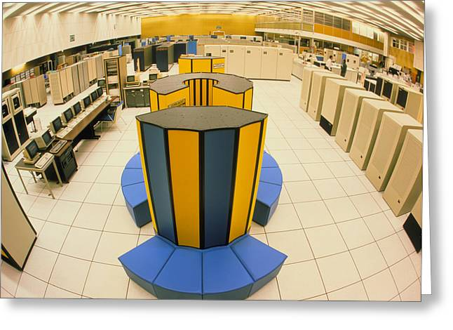 Xray X-mp/48 Supercomputer At Cern Greeting Card by David Parker