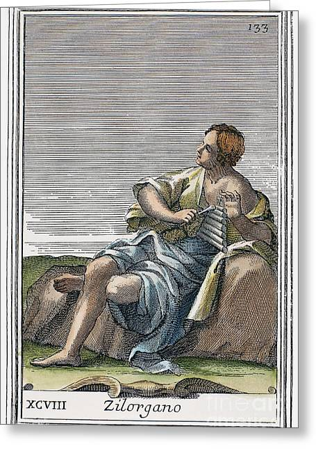 Xylophone, 1723 Greeting Card