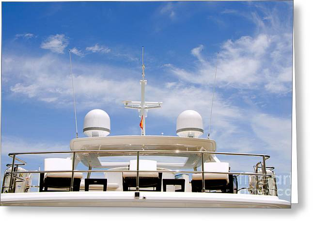 Yacht In Marbella Greeting Card by Perry Van Munster