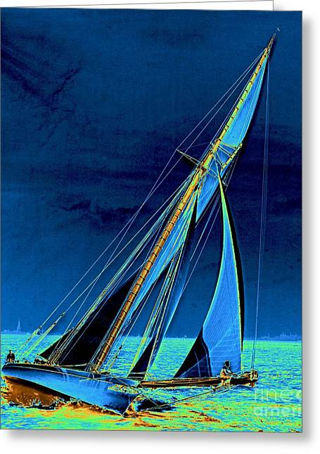Yacht Shamrock In New York Harbor 1895 Greeting Card by Padre Art