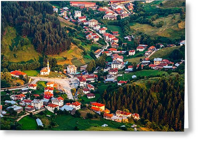 Yagodina Village Greeting Card by Evgeni Dinev