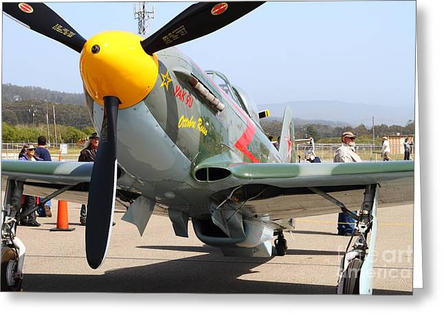Yak 9u Airplane . 7d15807 Greeting Card by Wingsdomain Art and Photography