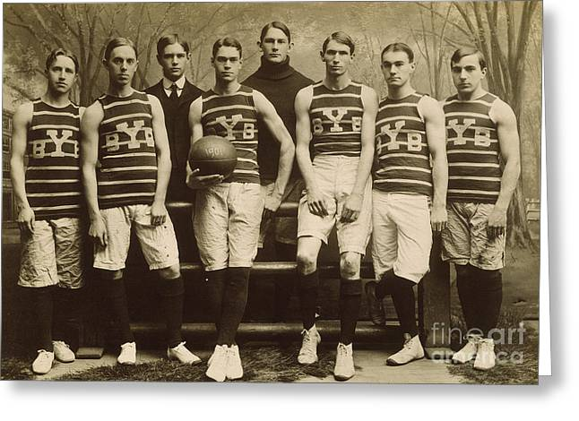 Yale Basketball Team, 1901 Greeting Card by Granger