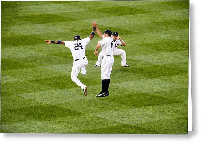 Yankee High Five Greeting Card by Christopher McPhail