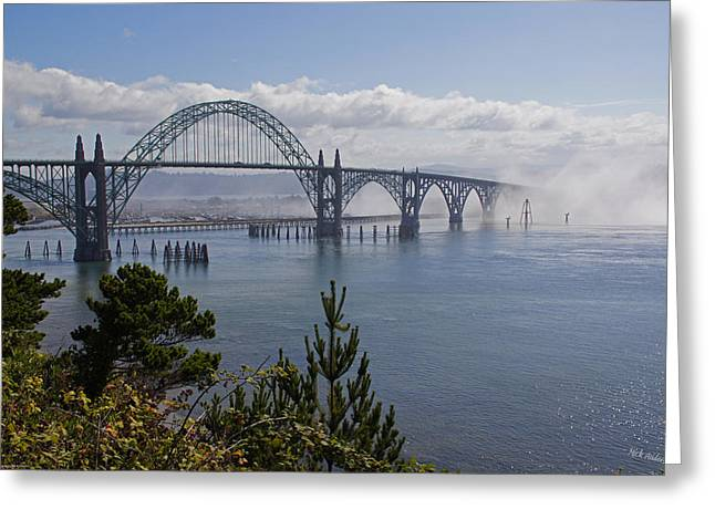 Greeting Card featuring the photograph Yaquina Bay Bridge by Mick Anderson