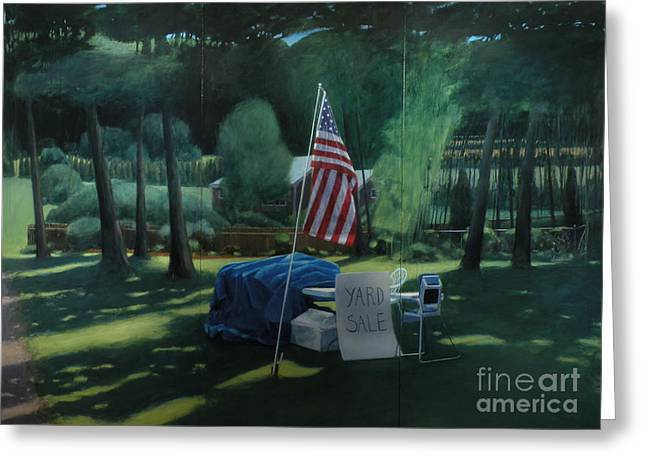 Yard Sale Greeting Card by Stephen Remick