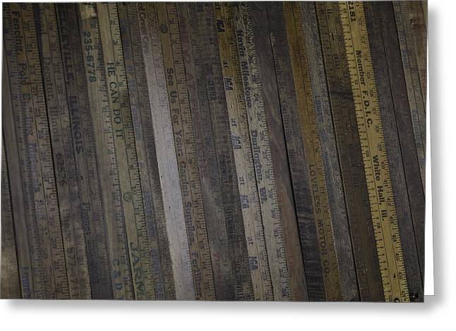 Yardsticks - Aged 18 Inch Closer 1 Greeting Card by Kurt Olson