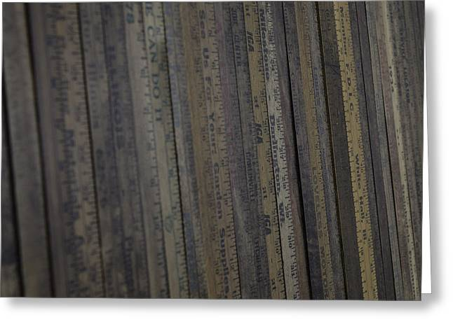 Yardsticks - Aged 18 Inch Closer 21 Greeting Card by Kurt Olson
