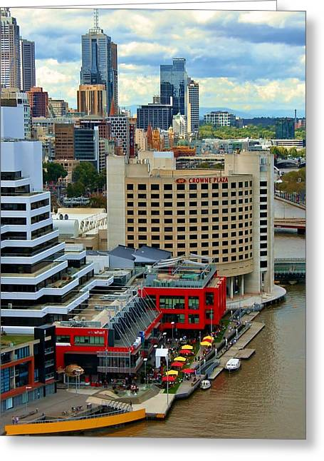 Yarra River City Block Of Primary Colors Greeting Card