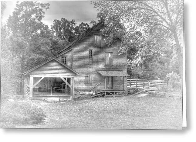Yates Mill Black And White Greeting Card by Joe Granita