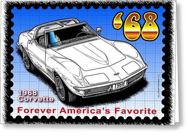 Year-by-year 1968 Corvette Greeting Card