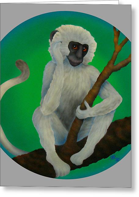 Year Of The Monkey Greeting Card by Marcia  Perry
