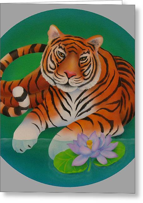 Year Of The Tiger Greeting Card by Marcia  Perry