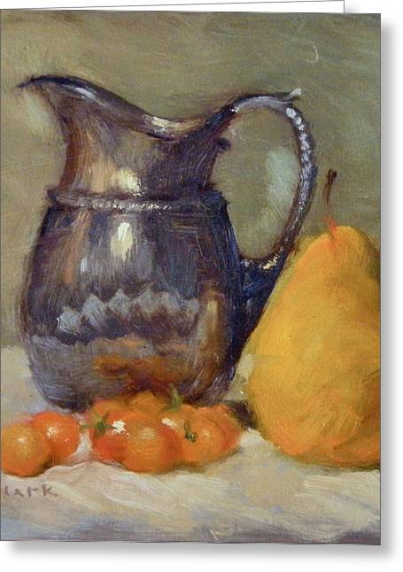Yellow And Orange Greeting Card by Roger Clark
