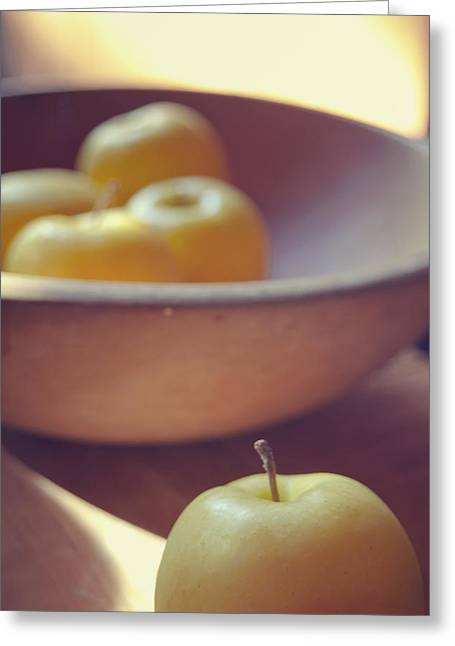 Yellow Apples Greeting Card by Toni Hopper