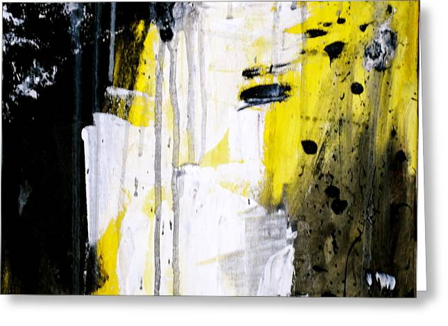 Yellow-black Greeting Card by Kelly S