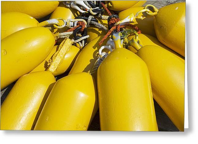 Yellow Buoys Greeting Card