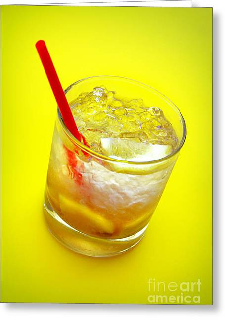 Yellow Caipirinha Greeting Card by Carlos Caetano