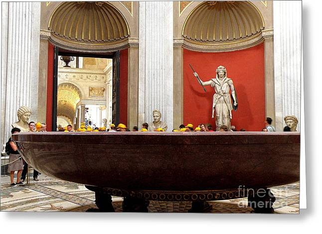 Greeting Card featuring the photograph Yellow Caps In Vatican by Tanya  Searcy