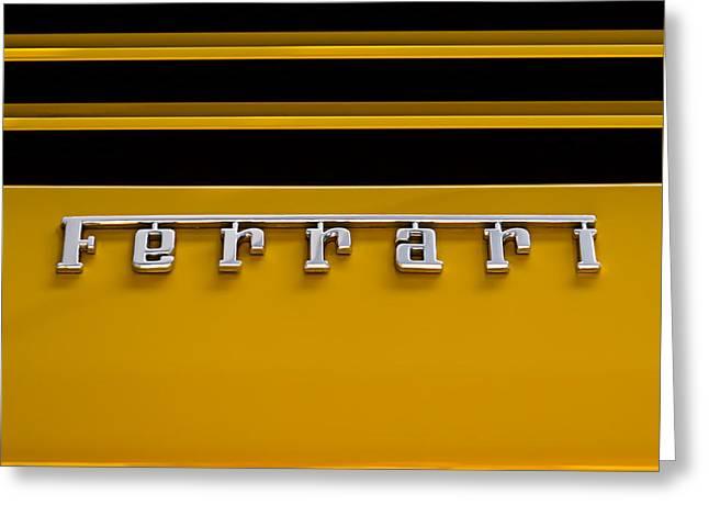 Yellow Ferrari Brightwork Greeting Card