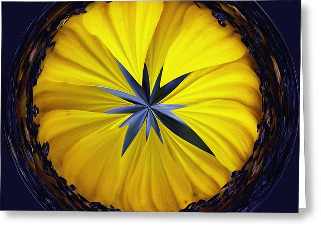 Yellow Flower 2 Greeting Card by Skip Nall