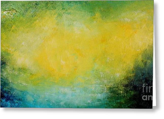 Yellow Galaxy Greeting Card by Michael Grubb