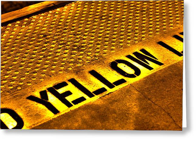 Yellow Greeting Card by Jeffrey Auger