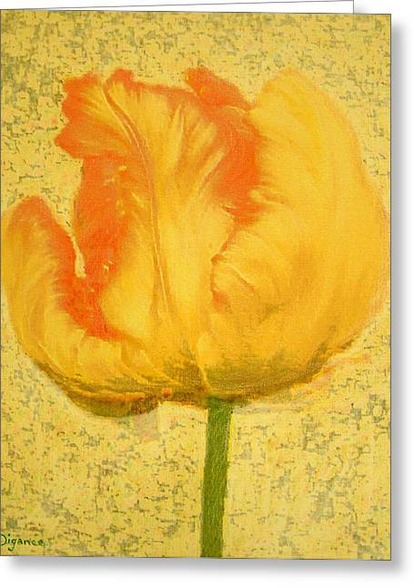 Yellow Parrot Tulip Greeting Card