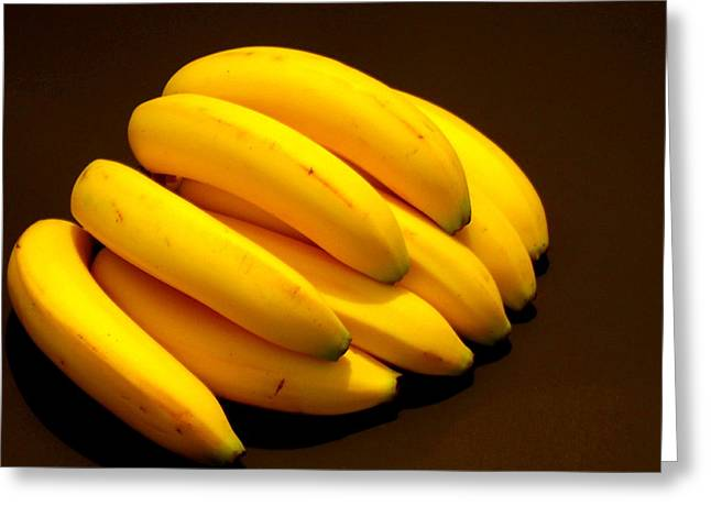 Yellow Ripe Bananas Greeting Card by Jose Lopez