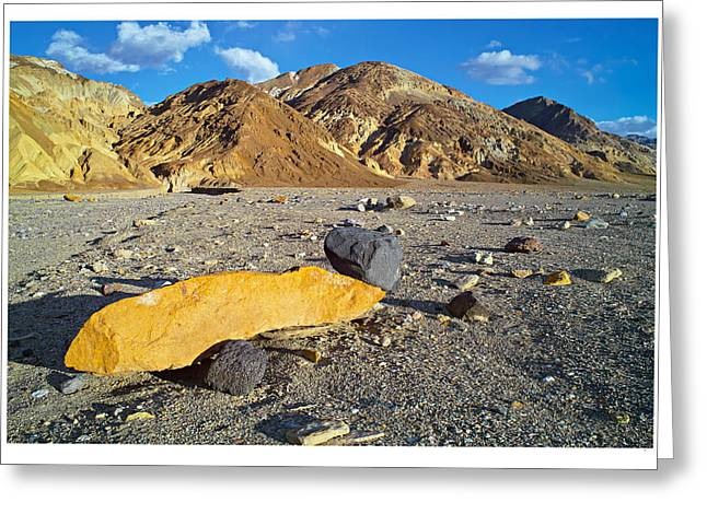 Yellow Rock At Death Valley Greeting Card by Laurence Matson