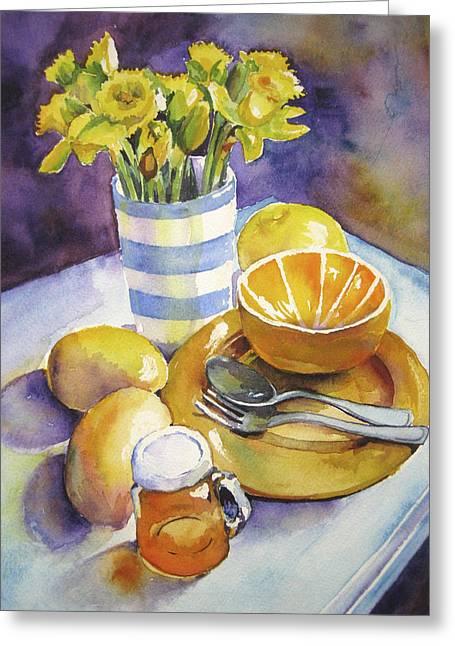 Yellow Still Life Greeting Card