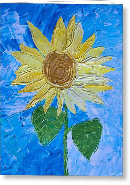 Yellow Sunshine Greeting Card by Heidi Smith